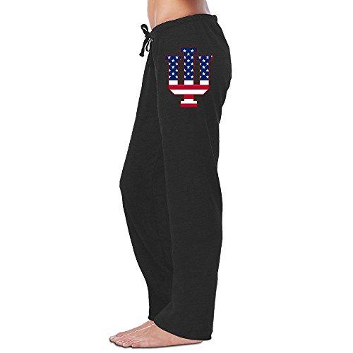 Howard University Halloween (MZONE New Indiana IU Flag University Bloomington Pants For Women Black Size)