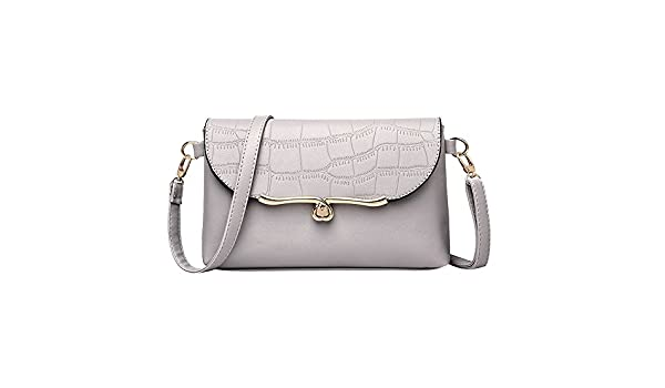 Amazon.com: Vintage Women Stone Pattern Leather Crossbody Bag Messenger Bag Shoulder Bag womens handbags totes shoulder bags bolsos muj#75 Color Gray ...