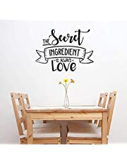 """Vinyl Wall Art Decal - The Secret Ingredient is Always Love - 22"""" x 30"""" - Cute Modern Couples Love Quote for Home Apartment Bedroom Kitchen Restaurant Bakery Food Cook Chef Gift Decoration Sticker"""