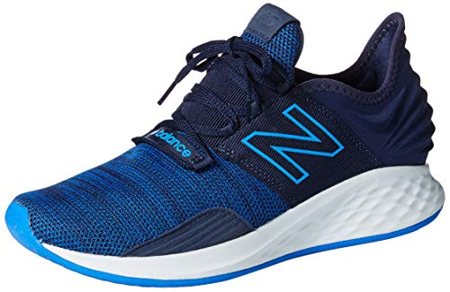 New Balance Men's Roav V1 Fresh Foam Running Shoe, Pigment/Vivid Cobalt, 12 2E US
