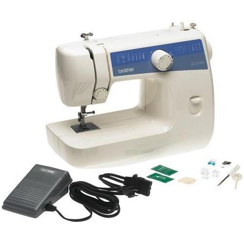 Brother LS2125i Easy-to-Use, Everyday Electric Sewing Machine, 10 Built-In Stitches, Lightweight, Built-in Light, Accessory Storage