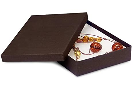 Amazoncom Pack Of 100 Chocolate Jewelry Boxes WNonTarnish