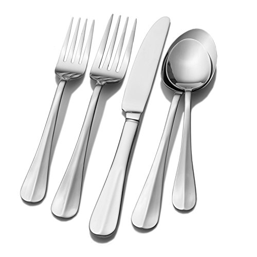 (Traditional Stainless Steel 53-piece Flatware Set (Service for 8))