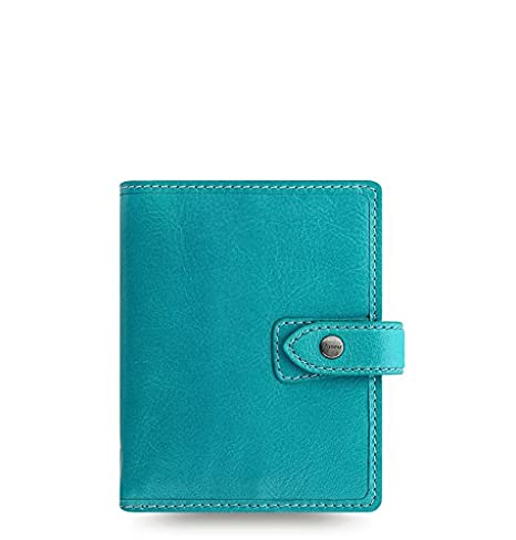 Filofax Malden Leather Organizer Agenda Calendar with DiLoro Jot Pad Refills (Pocket, 2019 Kingfisher, 026065-19)