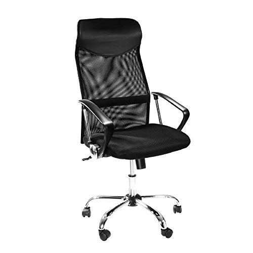 Home and Office Desk Chair | Ergonomic Swivel Chair – 360 Degree | Gaming Chair with Mesh Back for Superior Lumbar & Posture Support | Black