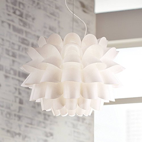 (Possini Euro Design White Flower Pendant Chandelier - Possini Euro Design)
