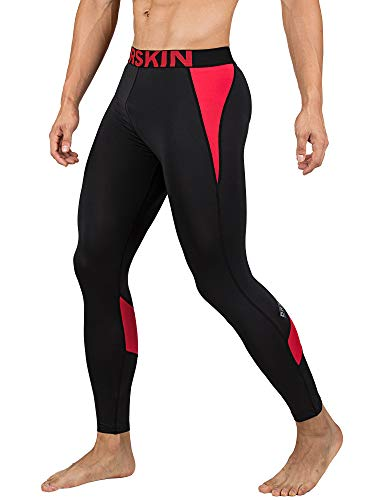 DRSKIN Men's Compression Dry Cool Sports Tights Pants Baselayer Running Leggings Yoga (Came B-RE02, L)
