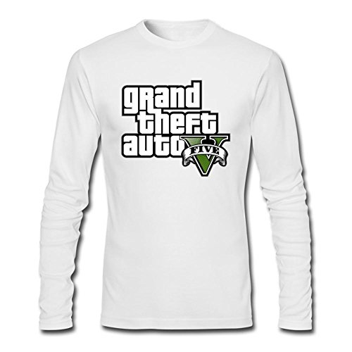 Price comparison product image SLJD Men's GTA V Grand Theft Auto Design Long Sleeve Cotton T Shirt
