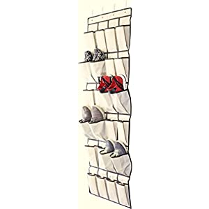 DecoBros 24 Pockets Over the Door Shoes Organizer,Beige