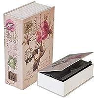 Cofre Livro Camuflado Porta Joias Aço Capa Carta de Rosas