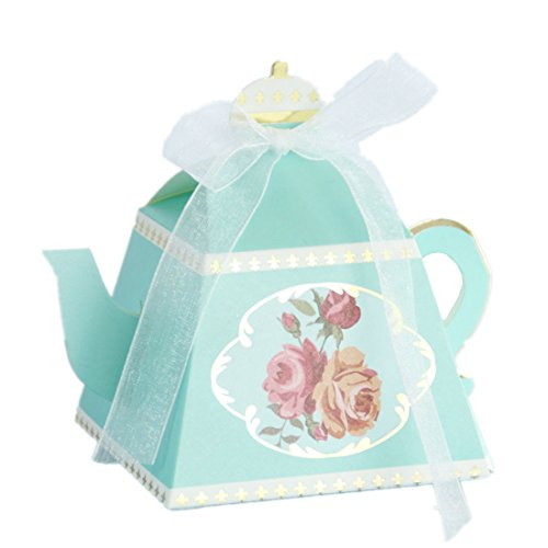 50-Packed Teapot Box for Wedding Favors Candy Boxes Gifts Box Marriage Party Favor -