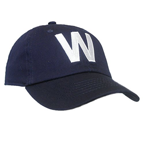 Tiny Expressions Toddler Boys' and Girls' Navy Embroidered Initial Baseball Hat Monogrammed Cap (W, 6-10yrs) Dry 6 Panel Cap