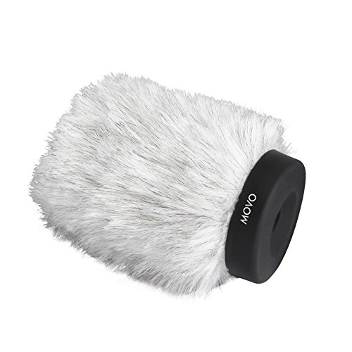 Shotgun Rabbit (Movo WS120 Professional Windscreen with Acoustic Foam Technology for Shotgun Microphones up to 10cm Long)