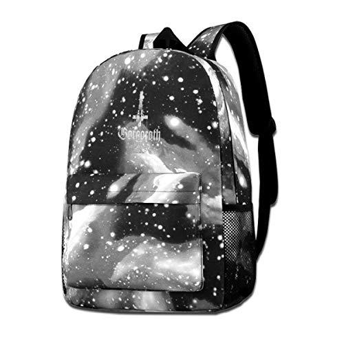 Gibeauwlu Gorgoroth Antichrist Unisex Canvas School Bag Casual Travel Bag Fashion Star Sky Backpack