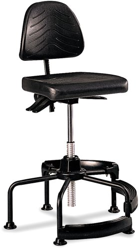 Safco Products 5120 Task Master Deluxe Industrial Chair (Additional options sold separately), Black