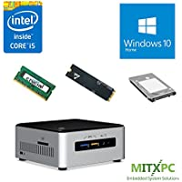 Intel BOXNUC6i5SYH Core i5-6260U NUC Mini PC w/ 16GB, 512GB M.2 SSD, 1TB 2.5 HDD, Windows 10 Home - Configured and Assembled by MITXPC