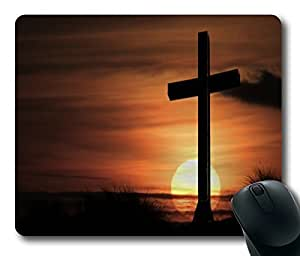 Cross of Christ OF Sunset Rectangle mouse pad by Custom Service Your Best Choice