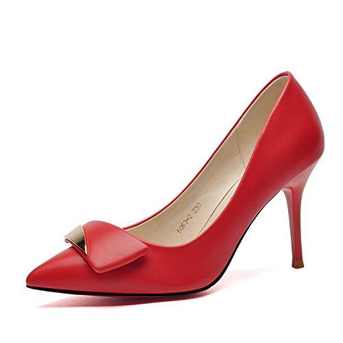 Heels New Shoes Shoes Shoes KPHY Women'S Sharp Fine Bride Wedding White Shoes High Heels 8Cm Single Women'S Wedding Spring Heads XwUUq0Ef