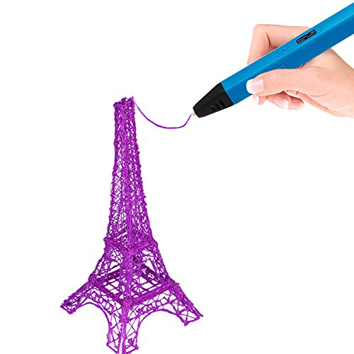 Soyan-Professional-3D-Pen-for-Kids-With-ABS-Filament-Sample-and-Drawing-Templates-Blue