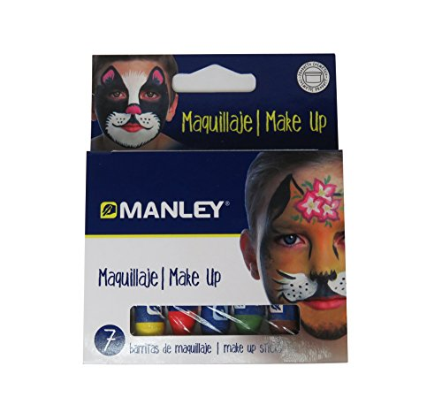 7 Color Face Paint Crayons Manley [Kuresan Japan]