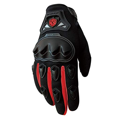 AINIYF Full Finger Motorcycle Gloves   Summer Men's Drop-Off Tactical Gloves Electric Car Racing Off-Road (Color : Red, Size : XL) by AINIYF (Image #7)