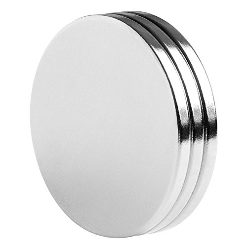 totalElement 1.5 x 1/8 Inch Strong Heavy-Duty Neodymium Rare Earth Disc Magnets N42 (3 pack)