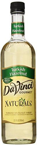 DaVinci Gourmet Naturals Syrup, Turkish Hazelnut, 23.67 Ounce (Da Vinci Hazelnut Syrup)