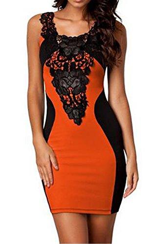 Mesdames robes 36 clubwear partie Orange 44 robe extensible robe de robe courroie Frestlich sexy TRwERr