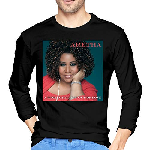 Aretha Franklin A Woman Falling Out of Love Men's Custom Casual Style Long Sleeve T-Shirt M Black
