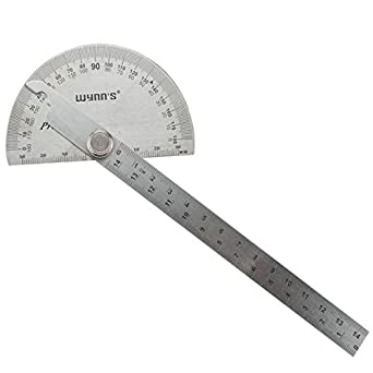 Surface Polish Stainless Steel 180 Degree Protractor Angle Ruler Measuring Tool