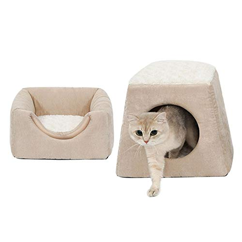 B Jypet Pet bed for small cats removable and washable Pet supplies Keep warm in winter Durable to wear and bite comfortable soft Easy to clean,B