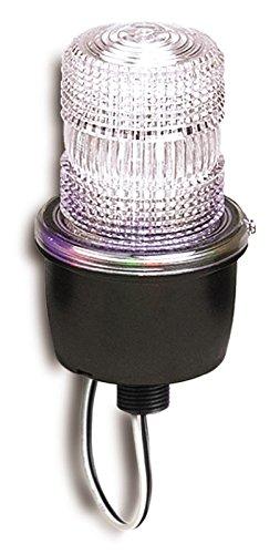 Federal Signal LP3M-012-048C Streamline Low Profile Strobe Light, Male Pipe Mount, 12-48 VDC, Clear