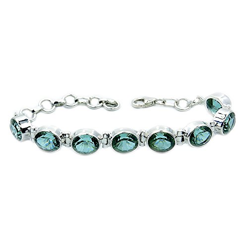 - Incredible Sterling Silver Lab Created Color Change Alexandrite Bracelet, Adjustable From 5.75