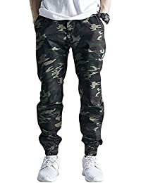 Men's Slim Fit Casual Twill Chino Drawstring Jogger Pants
