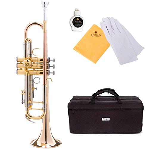 Mendini MTT-30GB Lacquered Intermediate B Flat Trumpet by Mendini