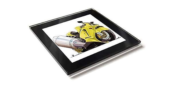 Koolart Kawasaki Ninja ZX12R - Posavasos de cristal con caja ...