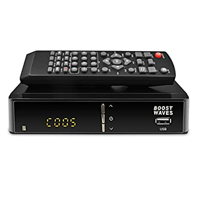 BoostWaves Premium Digital Converter Box DVR, Full HD 1080P HDTV, HDMI Output, 7 Day Program Guide, Recording & Playback, Parental Controls, Newest Mode,l Why Pay for Cable or Dish?