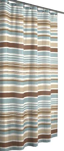 MAYTEX Meridian Fabric Shower Curtain, Blue