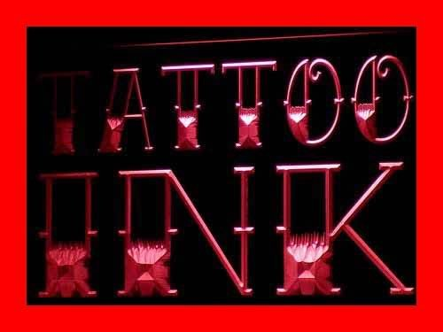 ADVPRO Cartel Luminoso i297-r New Tattoo Ink Shop Display ...