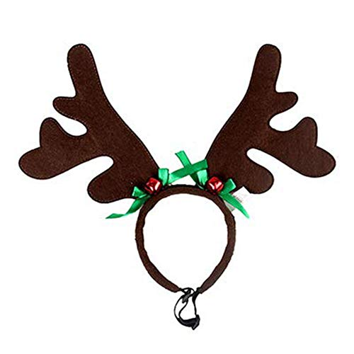 Toyvip Christmas Reindeer Antlers Headband Dog Cat Costumes Adjustable Pet Party Accessories