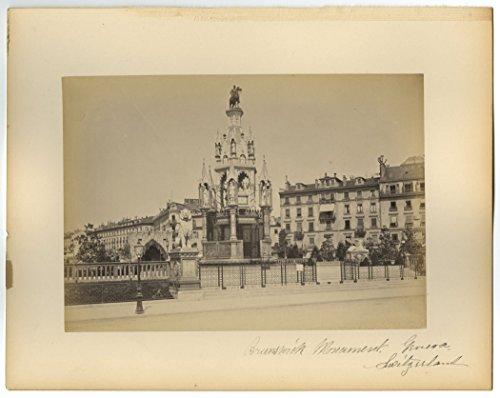 Geneva, Switzerland - 19th Century Albumen Photograph (Switzerland Geneve Monument)