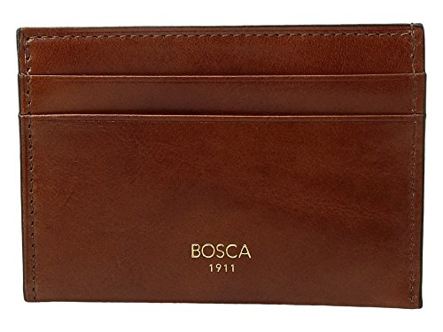 Bosca Men's Old Leather Collection - Weekend Wallet Amber One Size ()