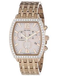Citizen FB1273-57A Eco-Drive Ladies Drive Rose Gold-Tone Swarovski Crystal Chronograph Watch
