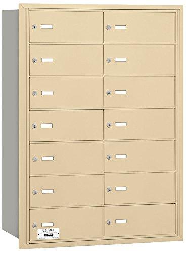 Salsbury Industries 3614SRU 4B Plus Horizontal Mailbox, 14 B Doors, Rear Loading, USPS Access, Sandstone