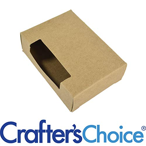 Crafter's Choice Kraft Top Window Soap Box - Homemade Soap Packaging - Soap Making Supplies - 100% Recycled Materials - Made in USA! 25 Pack