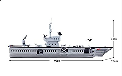 Enlighten Military Series the Aircraft Carrier Mini Figures Building Blocks Toy for Child / 1000 pieces (Plastic) Compatible with Lego