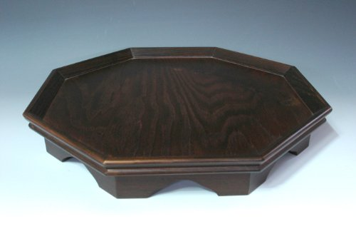 Octagonal Four Compartment Divided Natural Grain Wooden Tea Set Coffee Wine Serving Platter Tray Container Box Storage Holder by Antique Alive Tabletop (Image #4)