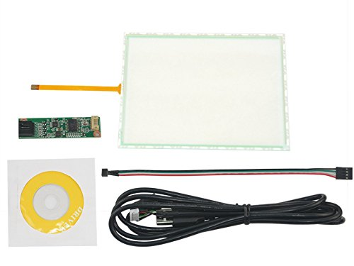 NJYTouch 6.5inch 4 Wire Resistive Touch Screen Panel Film to Glass for 6.5inch 146.2x114.5mm with 4 Wire USB Driver Controller Kit