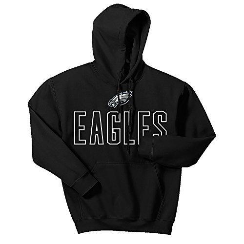 Philadelphia Eagles Long Sleeve Game (NFL Philadelphia Eagles Men's Zubaz Open Letter logo hoodie, X-Large, Black)