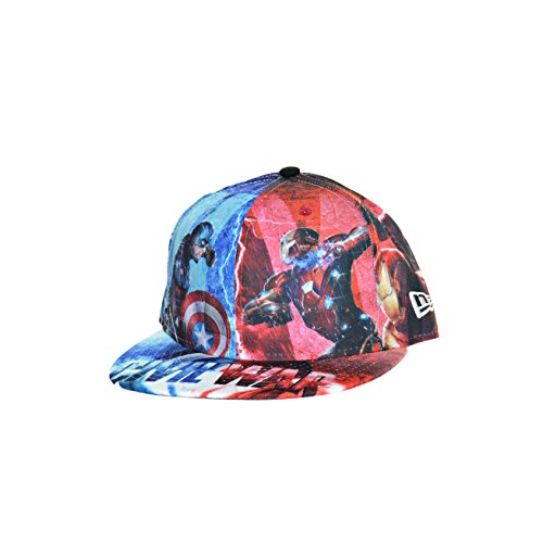 New Era 59Fifty All Over Captain America Civil War Fitted Hat Cap Multi Color 80286450 (Size 7 1/2)